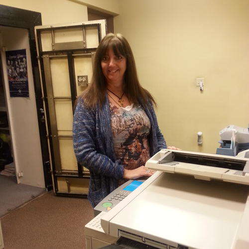 Teresa Klumpp started July 12, 1985 in the mailroom, then worked in circulation, composition, and the business office. I have covered every position except news and press. Between Christi and I, we've thrown a paper to every house in Ft. Scott.